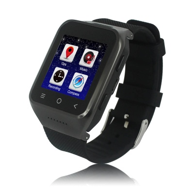 ZGPAX S8 Android 4.4 WCDMA Watch Phone w/ 512 MB RAM, 4GB ROM - Black