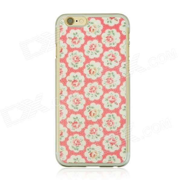 Pastoral Pattern Protetcive PC Back Case for IPHONE 6 4.7 - White + Pink + Multi-Color cat pattern protective pc back case for iphone 6 4 7 white pink multi color
