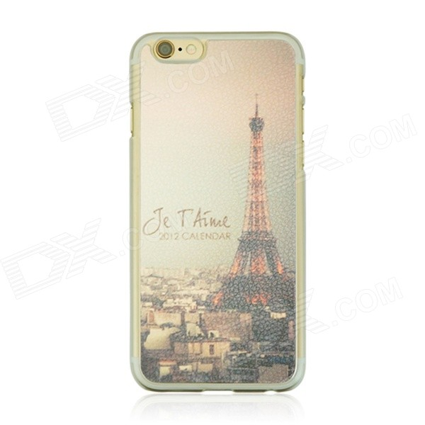 Night View of the Eiffel Tower Pattern Protective PC Back Case for IPHONE 6 4.7 - Bronze + Black 3d eiffel tower pattern protective abs pc back case for iphone 5c black multicolor