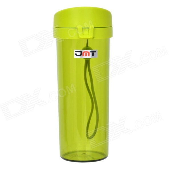 JMT H8125 portátil Bottle estanques w / filtro / Strap - Translucent Green (480ml)