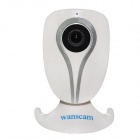 "WANSCAM JW0013 1/4"" CMOS 0.3MP Indoor IP Camera w/ 10-IR-LED / Wi-Fi / TF - White (EU Plug)"