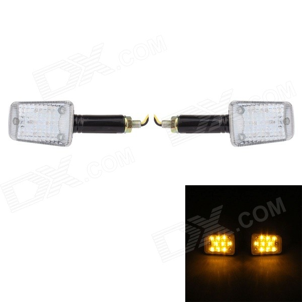 MZ Universal 0.4W 40lm 8-LED Yellow Light Motorcycle Steering Lights (12V / 2 PCS) платья gorchica платья