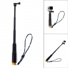 4-Section Retractable Handheld Monopod for GoPro - Black + Gold