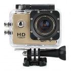 "S50W 1080P 1.5"" LTPS Wide Angle 12MP Wi-Fi HD Waterproof Sport Camera Camcorder - Gold + Black"