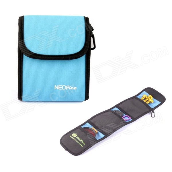 NEOpine Travel Portable Camera Accessories Storage Bag for GoPro Hero 2 / 3 / 3+/4 - Blue neopine travel portable camera accessories storage bag for gopro hero 2 3 3 4 red