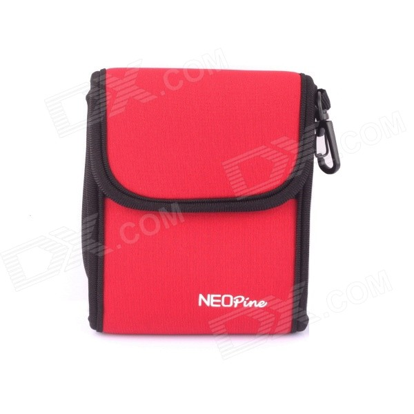 NEOpine Travel Portable Camera Accessories Storage Bag for GoPro Hero 2 / 3 / 3+/4 - Red