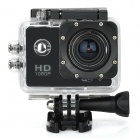 "S50W 1080P 1.5"" LTPS Wide Angle 12MP Wi-Fi HD Waterproof Sport Camera Camcorder - Black"