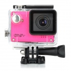 "S50W 1080P 1.5"" LTPS Wide Angle 12MP Wi-Fi HD Waterproof Sport Camera Camcorder - Deep Pink"