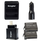 Kingma AHDBT-401 2 Battery + Dual-Port Battery Charger + Car/AC Charger for GoPro Hero 4/GoPro 4