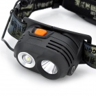 Pange XQ-7 2-LED 230lm 4-Mode White Headlamp - Black (1 x 18650)