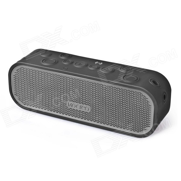 MOCREO Crater Portable Wireless Outdoor Waterproof Bluetooth v4.0 Speaker w/ NFC - Black vina ms 319 portable outdoor wireless bluetooth 4 0 nfc mini speaker for iphone more green page 10
