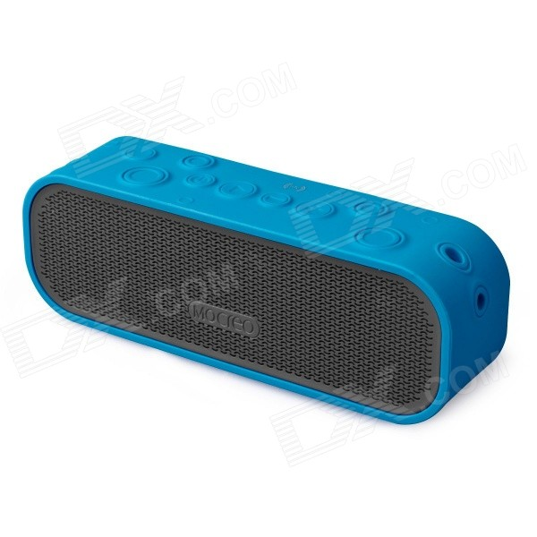MOCREO Crater Portable Wireless Outdoor Waterproof Bluetooth v4.0 Speaker w/ NFC - Blue vina ms 319 portable outdoor wireless bluetooth 4 0 nfc mini speaker for iphone more green page 10