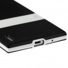 Protective TPU Case w/ Stand for Huawei Ascend P7 - Black