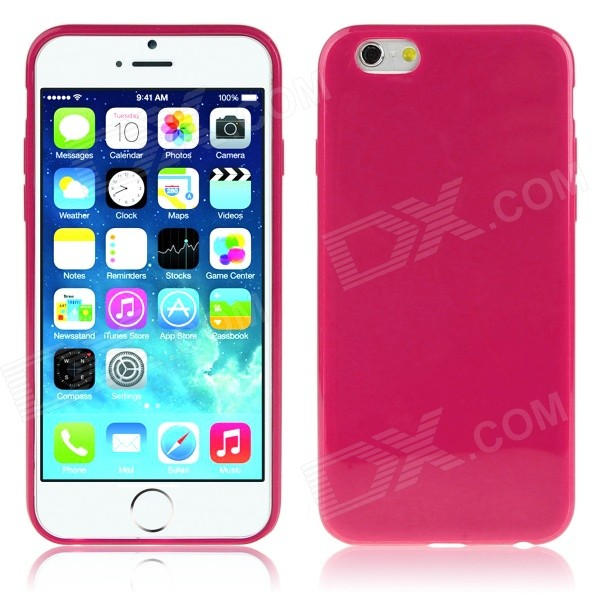 JSM Protective Soft TPU Back Case for IPHONE 6 PLUS 5.5 - Deep Pink cartoon pattern matte protective abs back case for iphone 4 4s deep pink