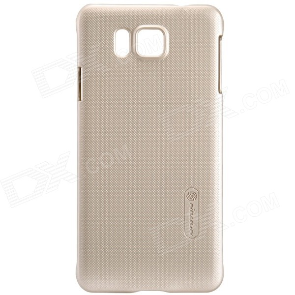 NILLKIN Protective Matte Frosted PC Back Case Cover for Samsung Galaxy Alpha G850F - Champagne Gold nillkin protective matte frosted pc back case cover for lg g3 stylus black