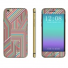 "Stylish Front + Back Decorative Stickers Set for IPHONE 6 4.7"" - Red + Multicolored"