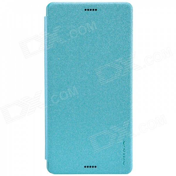 NILLKIIN Star Series Protective PU + PC Flip Open Case for Sony Xperia Z3(L55) - Blue nillkiin star series protective pu pc flip open case for sony xperia z3 l55 white