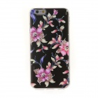 Kinston Black Bottom Artistic Flower Diamond Paste Pattern TPU Soft Case for IPHONE 6 4.7""