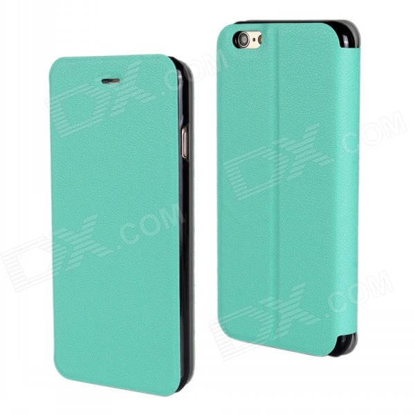Stylish Protective Flip-Open PU Leather + PC Case Cover w/ Stand for IPHONE 6 PLUS 5.5 - Blue Green mercury goospery blue moon magnetic leather case for iphone 6s plus 6 plus dark blue