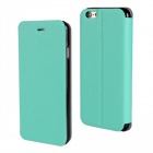 "Stylish Protective Flip-Open PU Leather + PC Case Cover w/ Stand for IPHONE 6 PLUS 5.5"" - Blue Green"