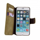 "Protective Flip-Open Retro Matte PU Leather Case w/ Card Slots + Stand for IPHONE 6 4.7"" - Light Tan"