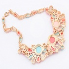FenLu Fashion European and American Style Pendant Necklace - Golden + Multi-Color