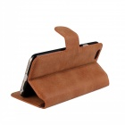 "Protective Flip-Open Retro Matte PU Leather Case w/ Card Slots + Stand for IPHONE 6 4.7"" - Brown"