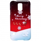 Christmas Santa Claus Pattern Protective PC Back Case for Samsung Galaxy S5 i9600 - Red + White