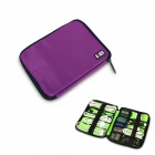 BUBM Portable Digital Accessories Nylon Storage / Organizing Bag - Purple (Size S)