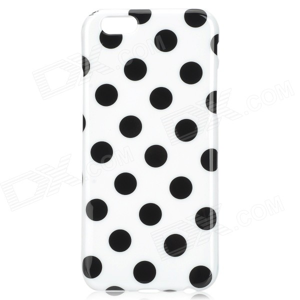 Dots Pattern Silicone Back Case for IPHONE 6 4.7 - White + Black billet alu folding adjustable brake clutch levers for motoguzzi griso 850 breva 1100 norge 1200 06 2013 07 08 1200 sport stelvio