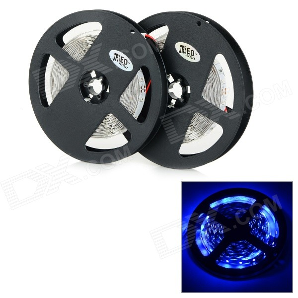 JRLED 144W 7000lm 470nm 300-SMD 5730 tiras de LED Blue Light - Black + White (2 PCS / 5M / DC 12V)