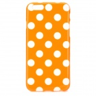 "Dots Pattern Protective Silicone Back Case for IPHONE 6 4.7"" - Orange + White"