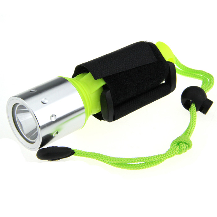 UltraFire Diving 50m Waterproof 800lm 1-Mode White Light LED Flashlight - Yellow Green (1 x 18650)