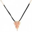 Women's Fashion Rhinestone Inlaid Zinc Alloy Necklace - Golden + Black