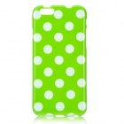 "Dots Pattern Protective Silicone Back Case for IPHONE 6 4.7"" - Green + White"