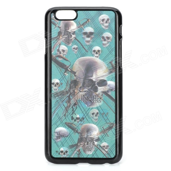 Lifelike 3D Skull Head Pattern Plastic Back Case for IPHONE 6 4.7 - Black + Green рюкзак case logic 17 3 prevailer black prev217blk mid