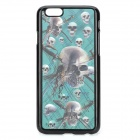 "Lifelike 3D Skull Head Pattern Plastic Back Case for IPHONE 6 4.7"" - Black + Green"