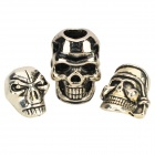 Halloween DIY Double-faced Skull Head / Gagtooth Style Skull Head / Pirate Skull Necklace Pendant