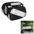 B-alma YA161 Bike Top Oxford Tube + PVC doble bolsa w / Case Celulares bolsa protectora - Negro