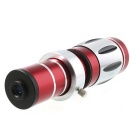 "20x Zoom Camera Telephoto Lens w/ Tripod Mount + Back Case for IPHONE 6 4.7"" - Red + Silver + Black"