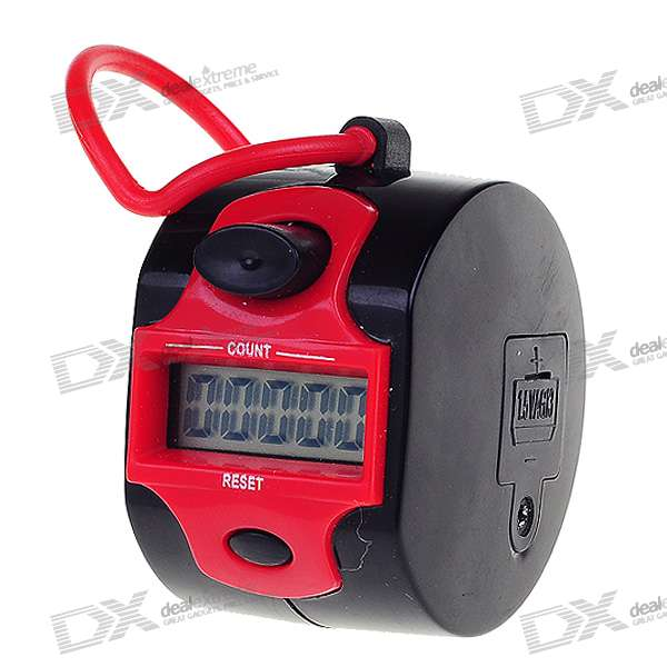 "0.9"" LCD 5-Digit Electronic Digital Tally Counter - Black + Red"
