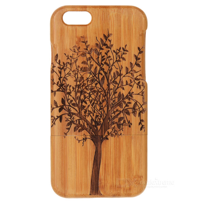 Hand-carved Tree Pattern Bamboo Back Case for IPHONE 6 4.7