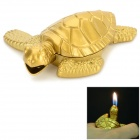 Cute Tortoise Shaped Windproof Zinc Alloy Gas Lighter - Golden