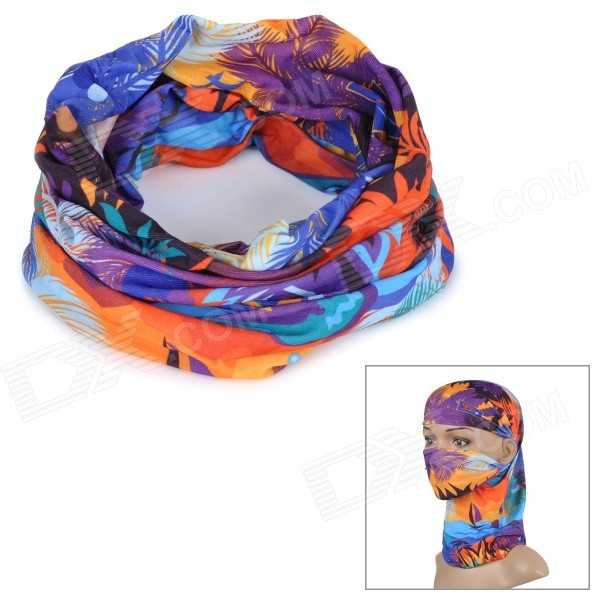 Wild Color C5019 Hawaii Style Outdoor Cycling Headband / Face Mask / Neck Scarf - Multi-colored protective outdoor war game military skull half face shield mask black