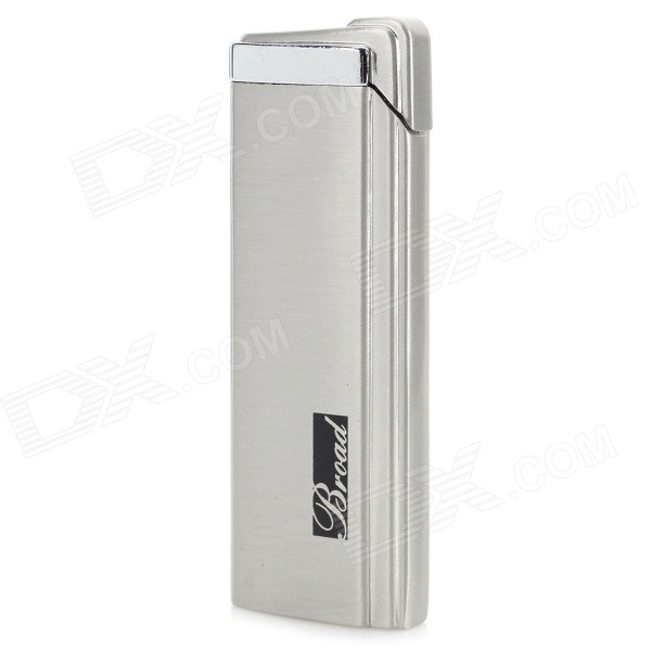 Fashion Stainless Steel Windproof Gas Butane Lighter - Silver creative gas tank shape windproof butane gas lighter grey