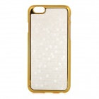"Stylish Grain Protective ABS + PU Leather Back Case Cover for IPHONE 6 4.7"" - White + Golden"