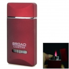 Fashionable Windproof Blue Flame Gas Butane Lighter - Red