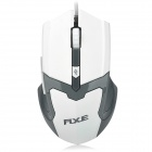 RXE X3 USB 2.0 Wired Optical 800/1200/1600dpi Mouse w/ Colorful LED - White + Dark Grey
