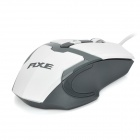 RXE USB 2.0 Wired Optical 800/1200/1600dpi Mouse w/ Colorful LED - White + Dark Grey