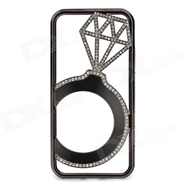 Hollowed Diamond Ring Pattern Titanium Frame Case for IPHONE 5 / 5S - Black карабин black diamond black diamond rocklock twistlock
